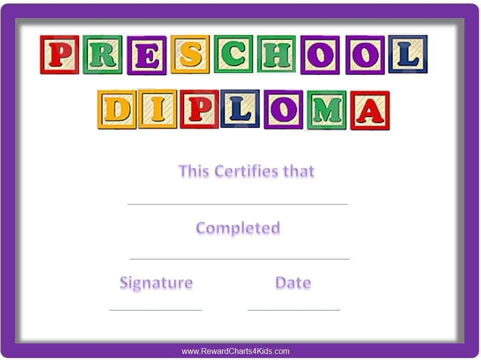 photo regarding Preschool Certificates Printable named Preschool Certificates