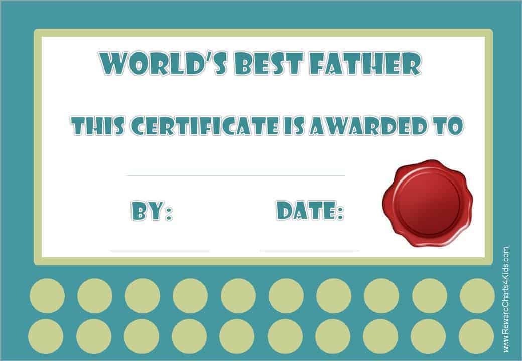Best dad certificate greatest dad certificate yadclub