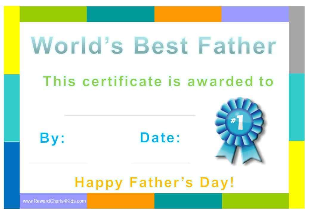Best dad certificate yadclub Gallery