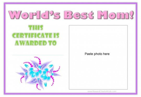 gift certificate for mom