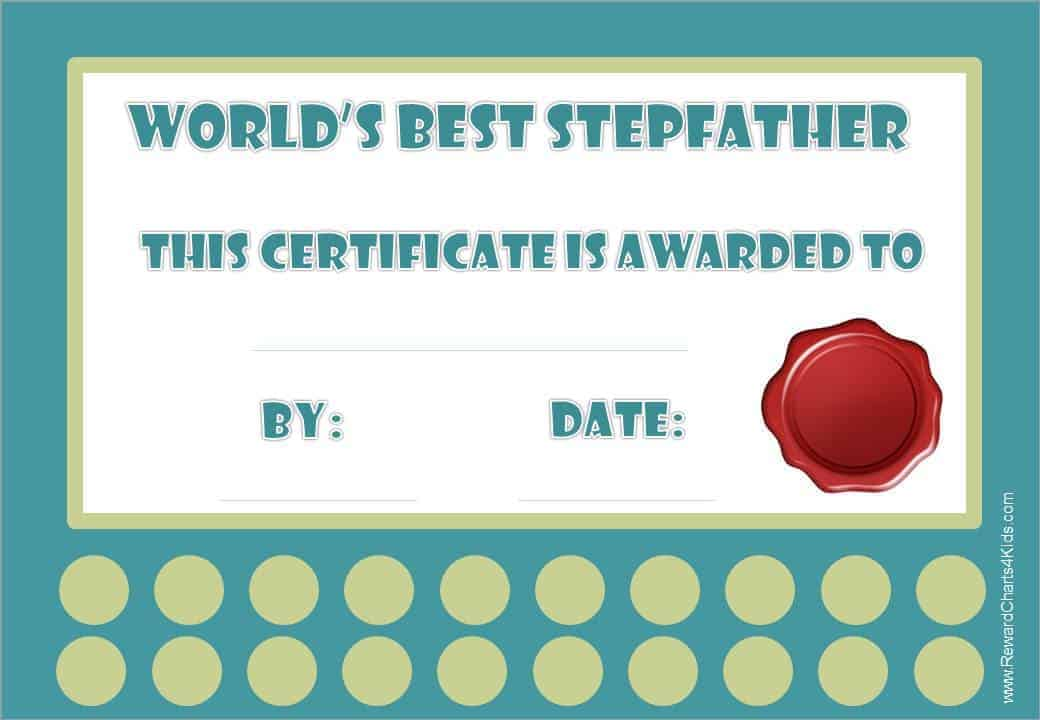 best step dad certificate