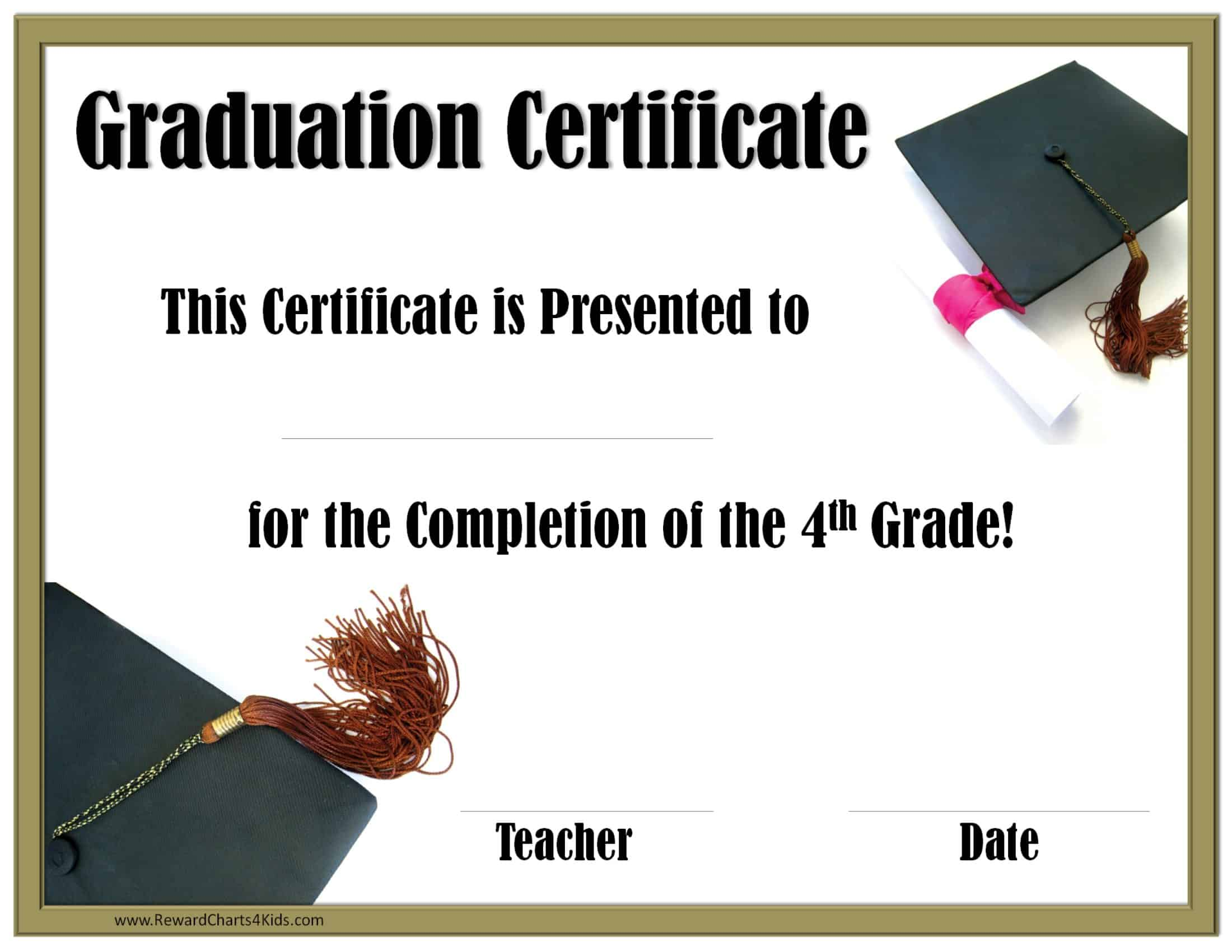 school graduation certificates