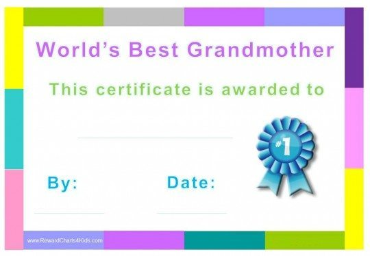 gift certificate for grandmom