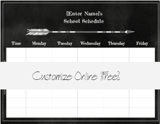 chalkboard class schedule