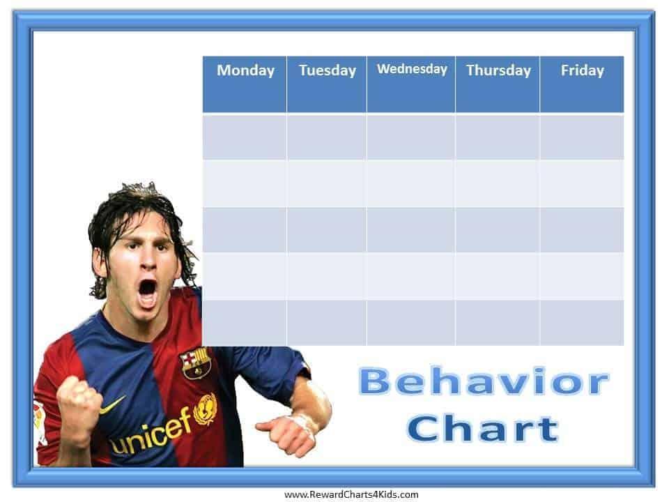 Soccer Behavior Charts on Free Printable Rewards Charts