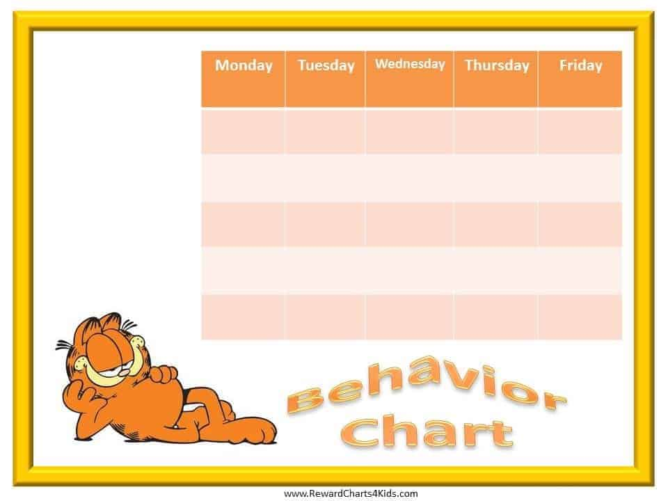 Garfield Behavior Charts