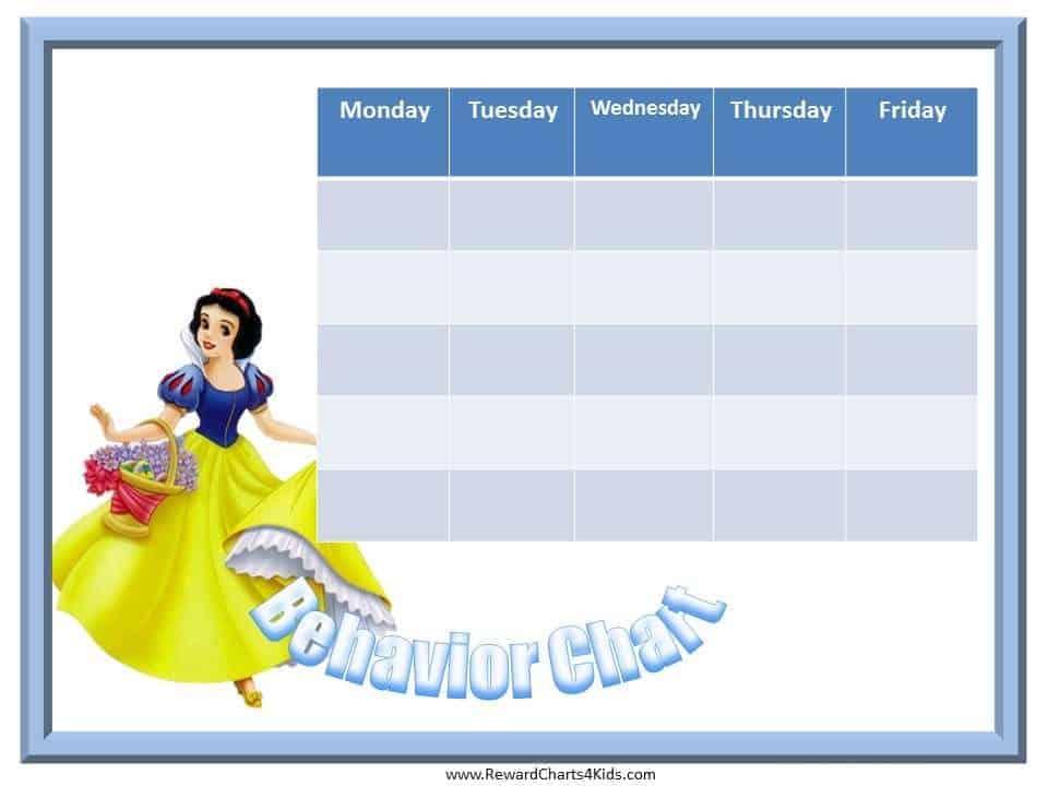 Snow White Behavior Charts