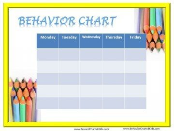 Printable Behavior Chart Template