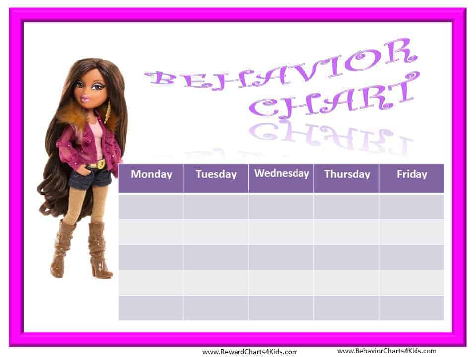 free princess behavior chart