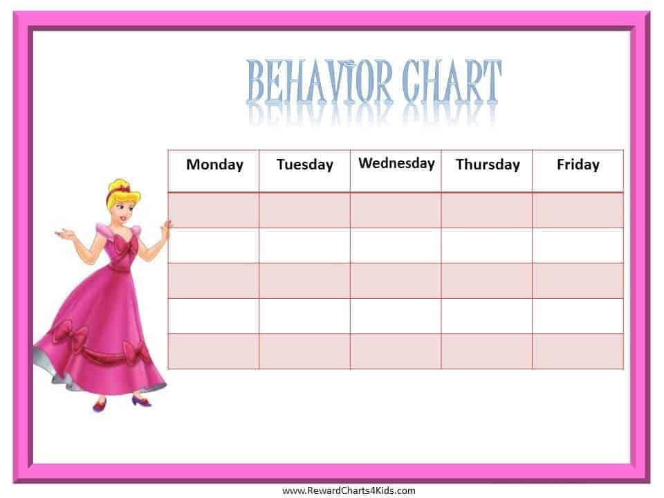 Free Princess Behavior Chart