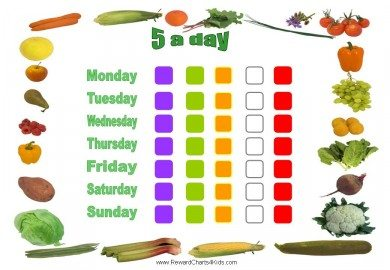 5 a day chart for kids