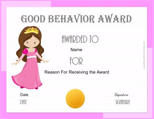 Award for girls