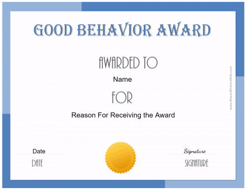 certificate of good behavior