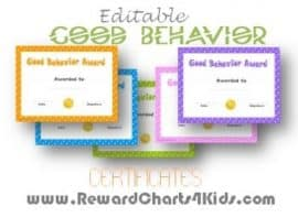 awards for good behavior