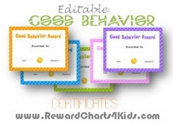 printable certificates for good behavior