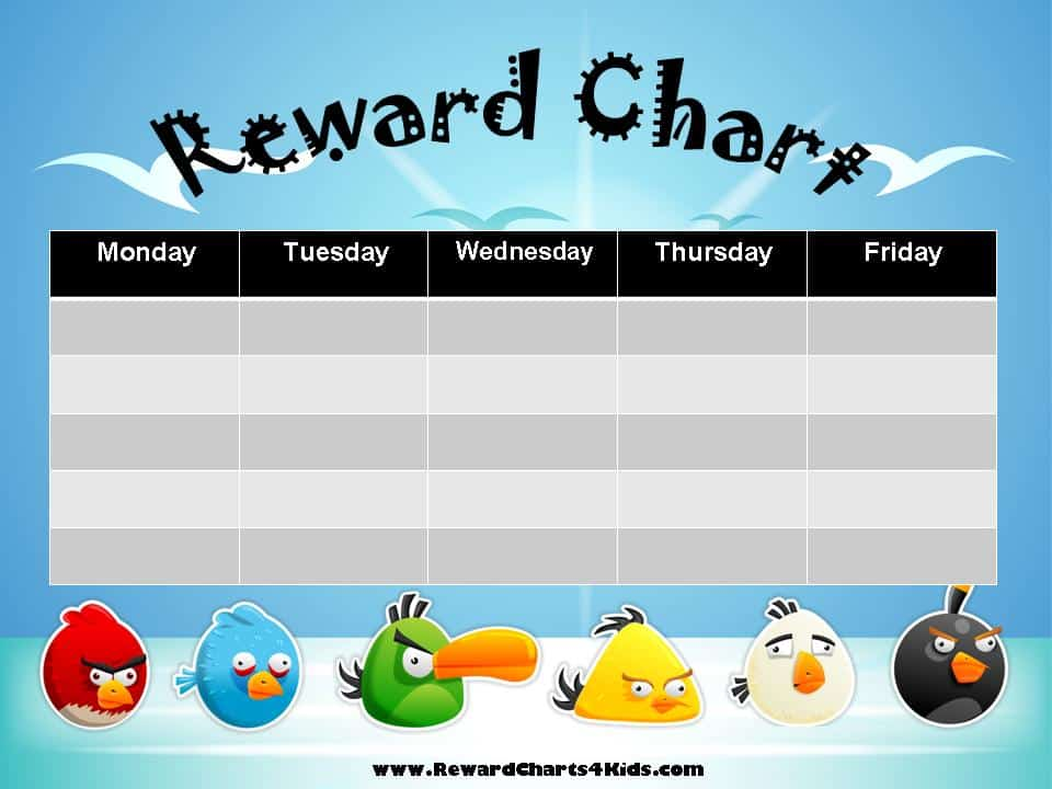 free printable reward charts for kids