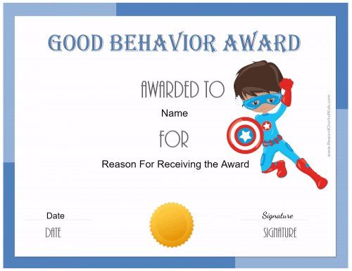 free certificate of good behavior