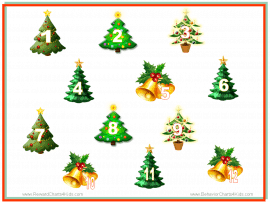 Christmas sticker chart
