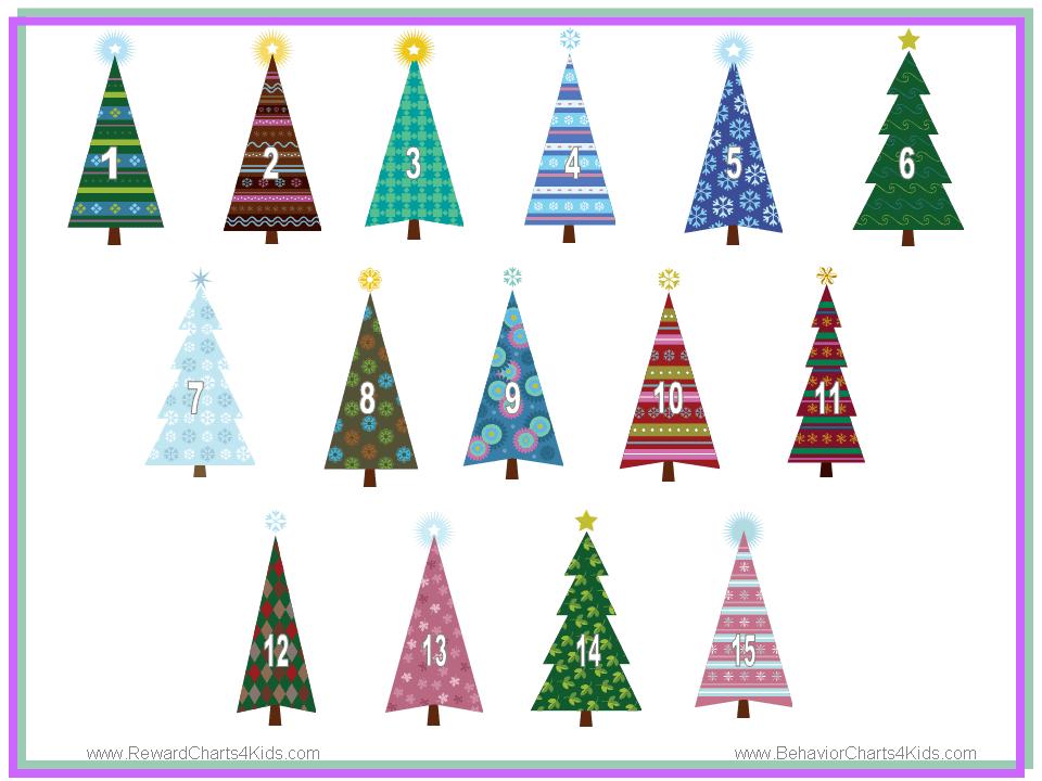 christmas reward charts