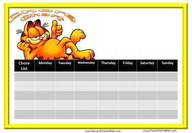 Chore Chart with Garfield