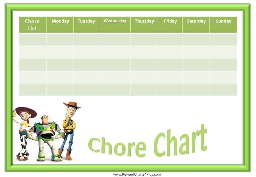 Toy Story Potty Chart : Printable chore charts