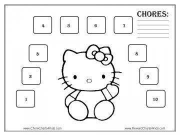 Free Printable Hello Kitty Chore Chart