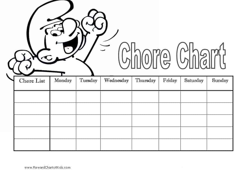 blank weekly chore chart selom digitalsite co