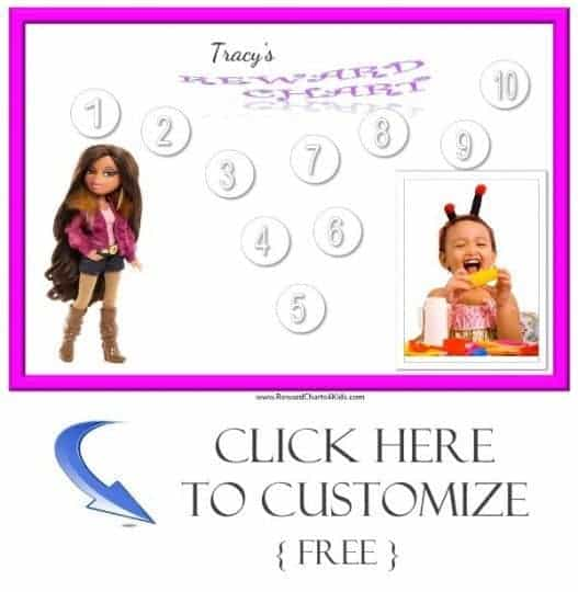 Bratz sticker chart
