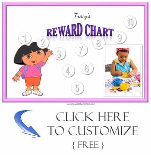 Dora sticker chart
