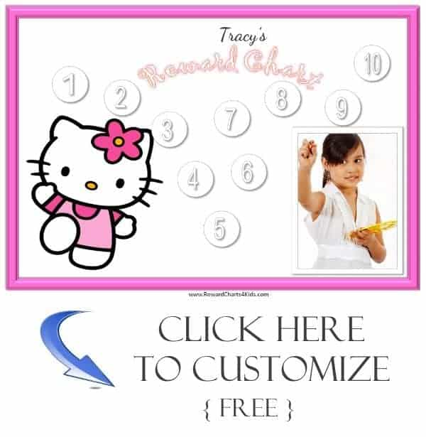 personalized reward charts for girls