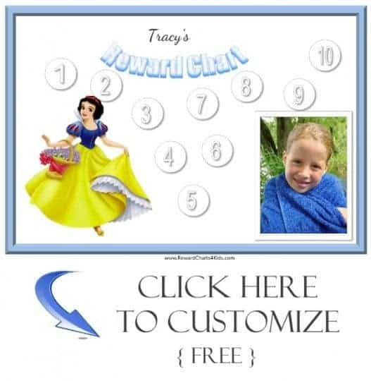 Behavior charts with Snow White
