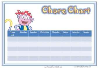 Chore Chart with Boots