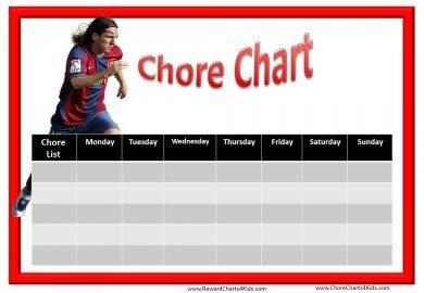 Soccer Chore Chart