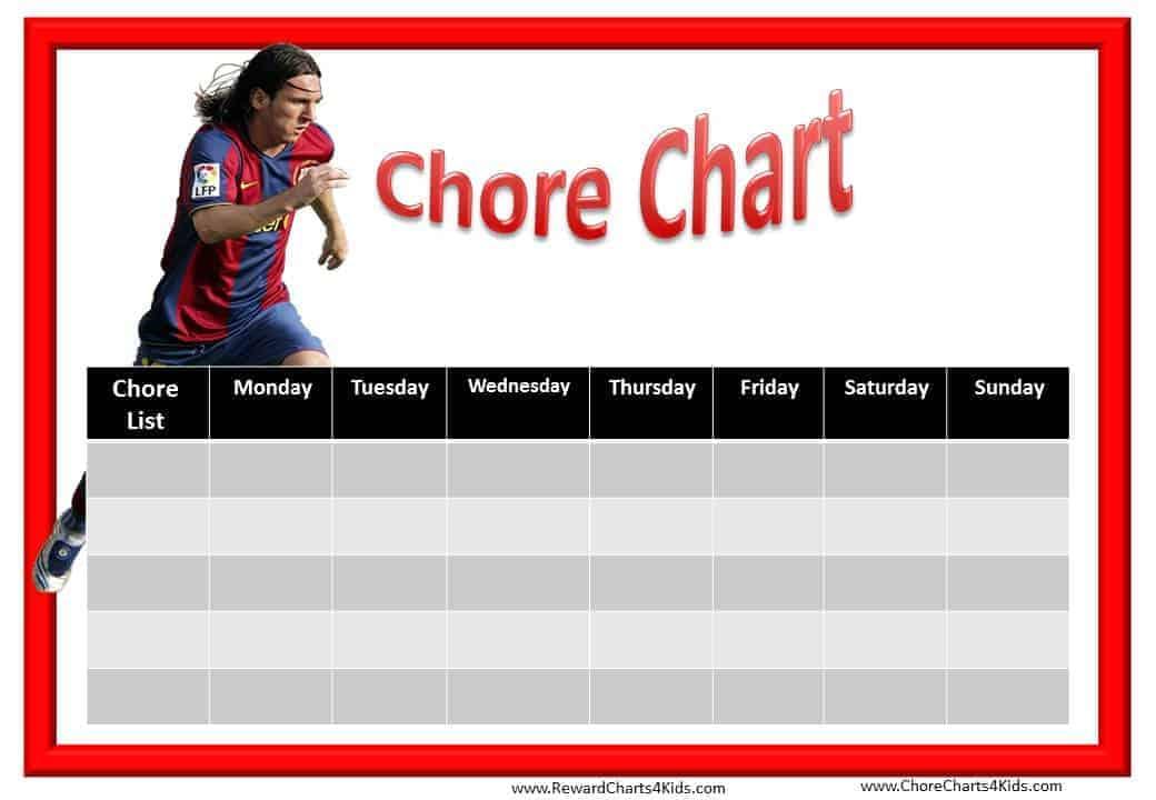 football    soccer chore charts