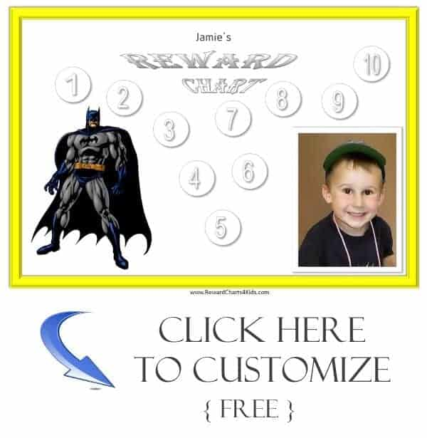 personalized reward charts for boys