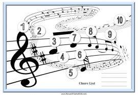 Musical chore charts