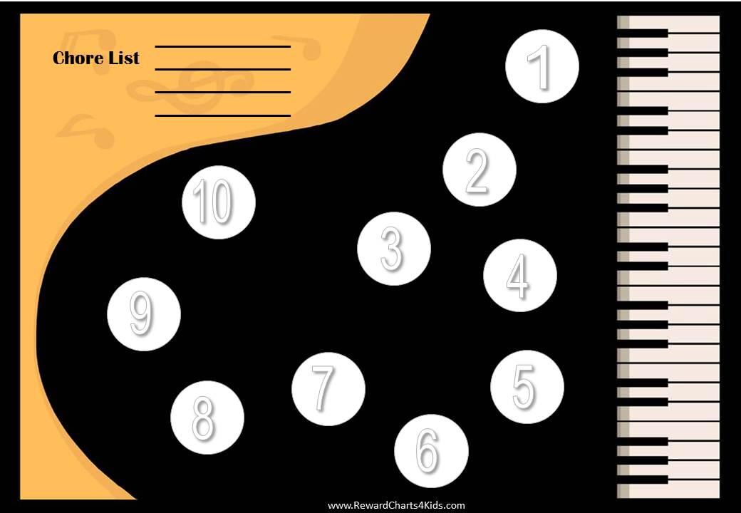 music chore charts
