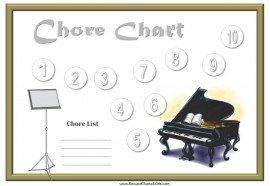piano chore charts