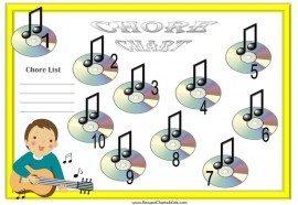 Guitar chore charts