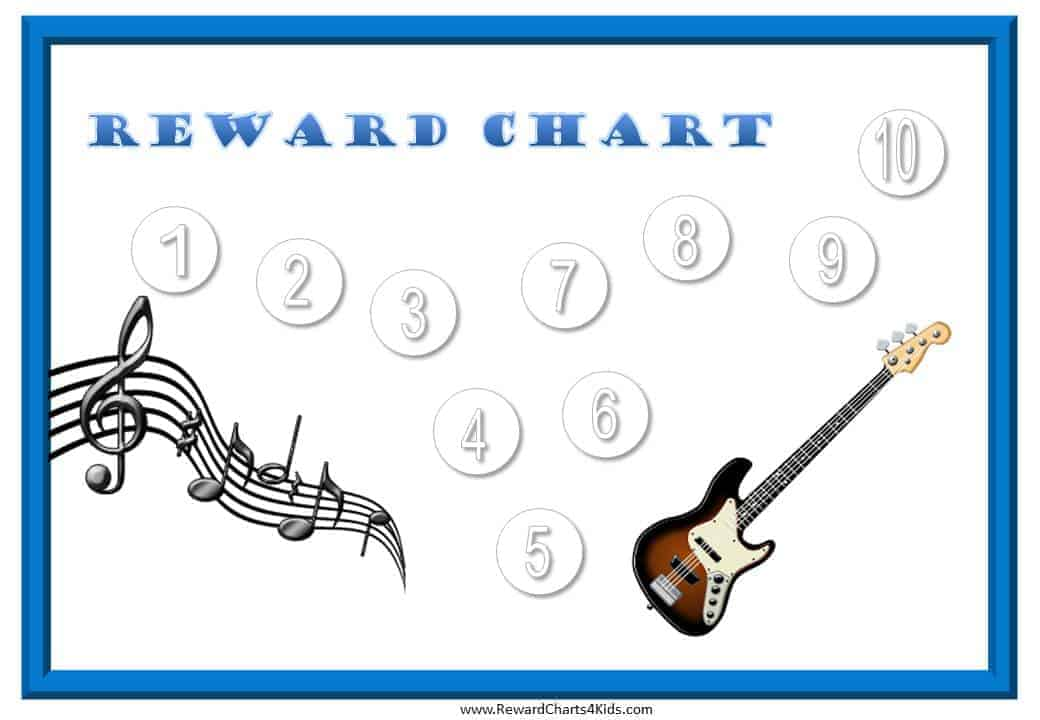 Rewards chart template