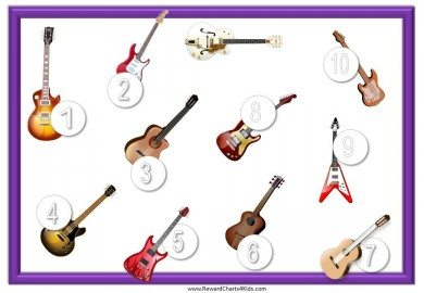 Guitar sticker chart