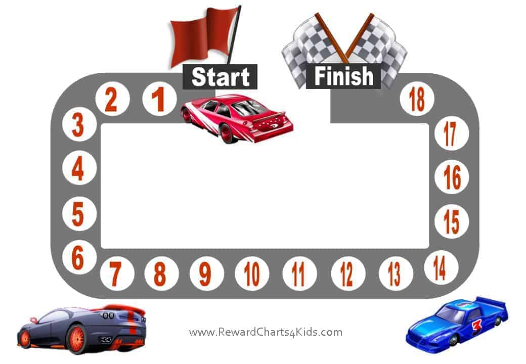 This is a graphic of Magic Printable Race Track