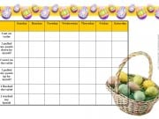Easter toilet training chart