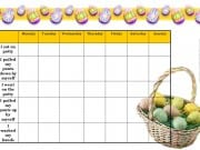 Easter potty training chart