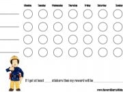 Behavior Chart with a picture of a fireman