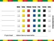 printable behavior chart with a lego border