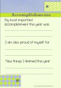Write about your accomplishments that year