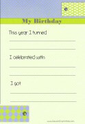Your birthday and how you celebrated