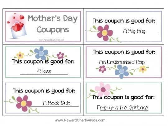 gift coupons for mom