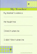 All about your teacher (for male teachers)